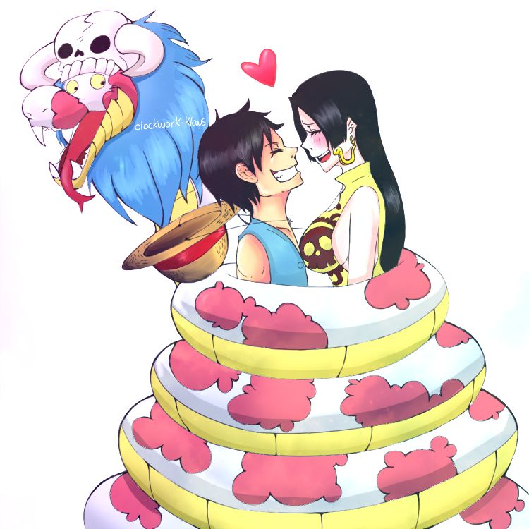Luffy x boa hancock monkey d luffy x boa hancock pinterest anime ships and anime - One piece luffy x hancock ...