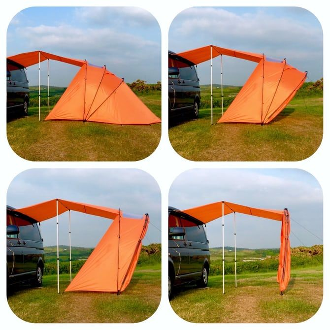 Retractable awning-tent adds extra roof and views to your ...