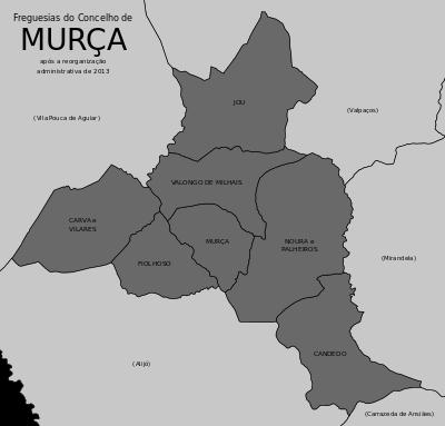 mapa de portugal murça Freguesias do concelho de Murça | Chaminés algarvias 1 Clarabóias  mapa de portugal murça