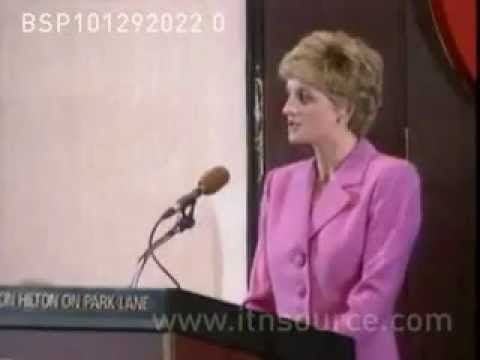 Princess Diana speaks about head injuries  As patron of Headway, the National Head Injuries Association, Diana spoke about the issue personally, referring to a incident where Prince William was struck in the head. In London. December 10, 1992.