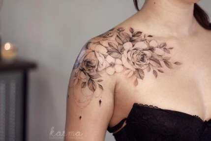 56 ideas tattoo flower shoulder rose beautiful