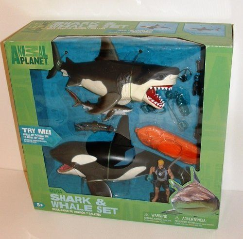 Shark Toys And Games : Great white shark killer whale playset animal planet