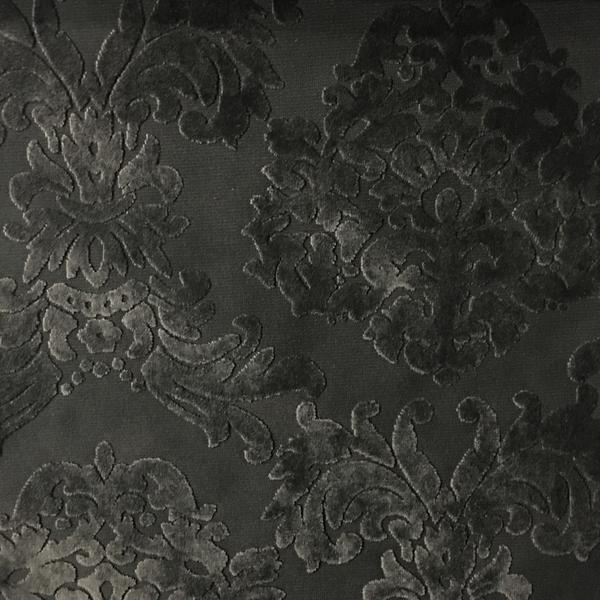 Florence Palace - Damask Pattern Burnout Velvet Upholstery Fabric