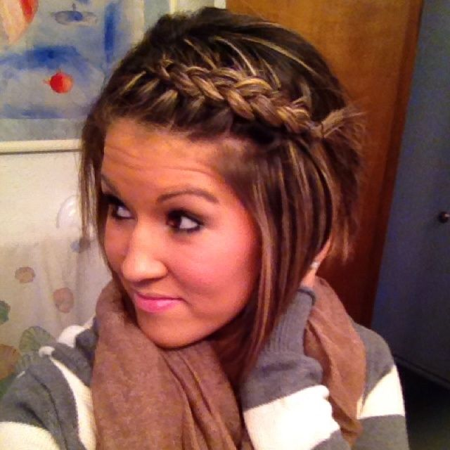 Bang Side Braid Short Hair Dont Care Pinterest Hair Beauty