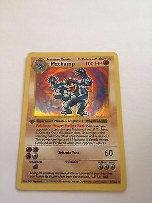 Pokemon Machamp 8 102 Holo 1st Edition Base Set Rare Card Please Retweet
