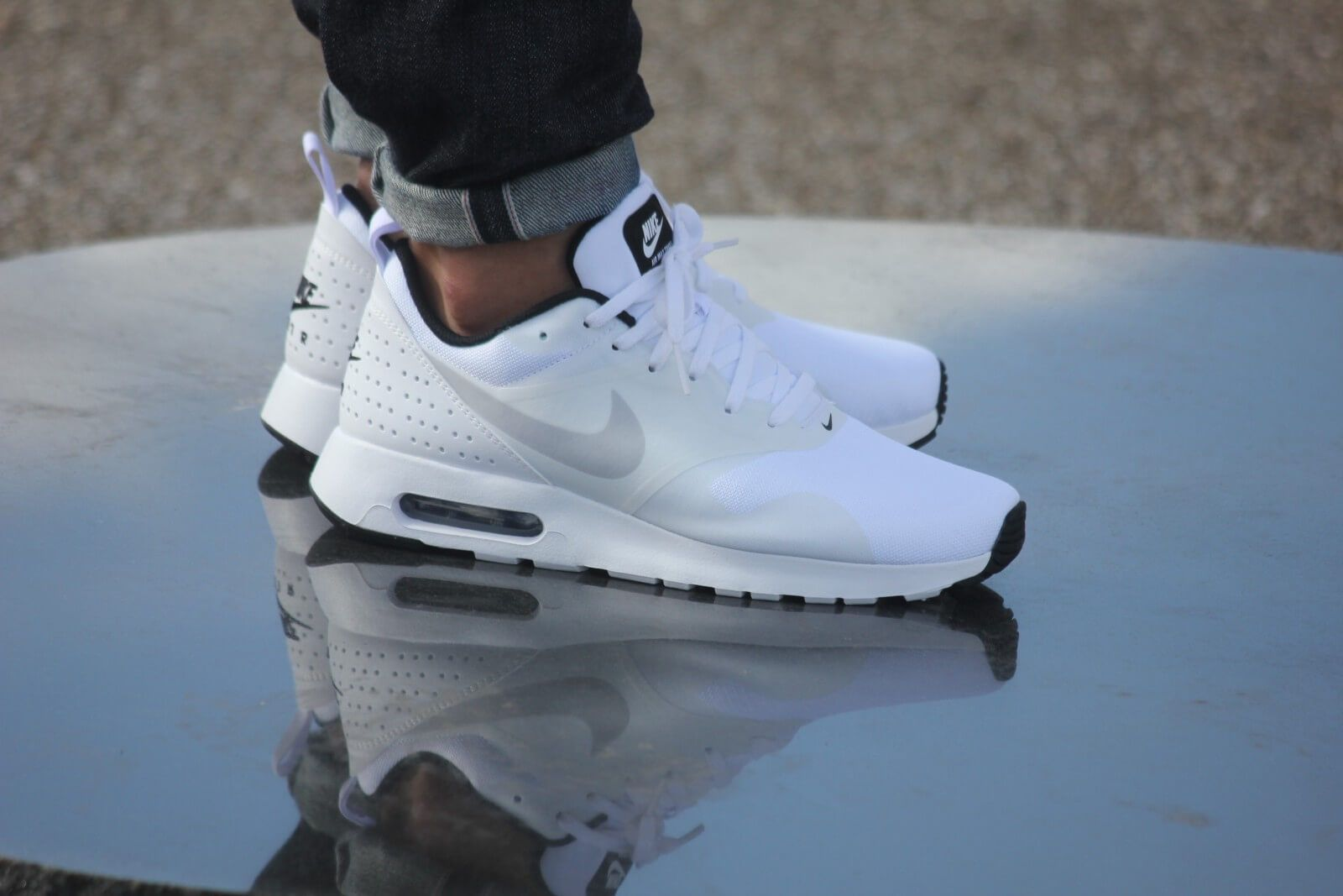 ae6f0fabf1bed8 Nike Air Max Tavas White  Pure Platinum Black - 705149-103