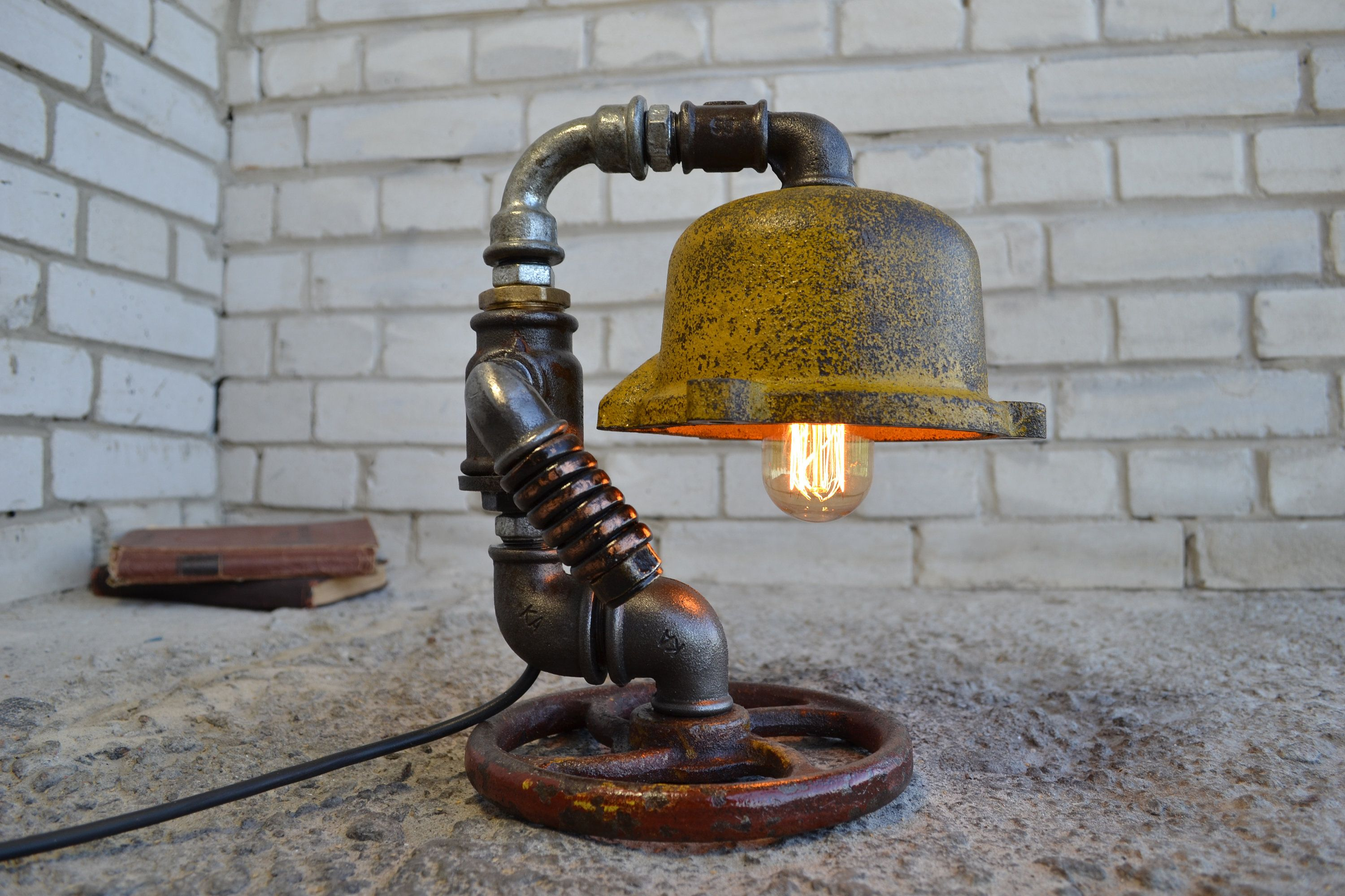 IndustrialStyle Steampunk lighting, from Old Parts