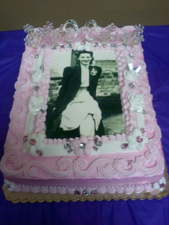 My Grandmothers 90th Birthday Cake That Was Designed And Decorated By Me