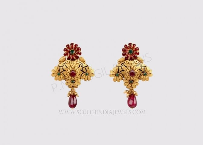 5b1b9f01a Daily Wear Gold Earrings Designs | Earrings Collections | Gold ...