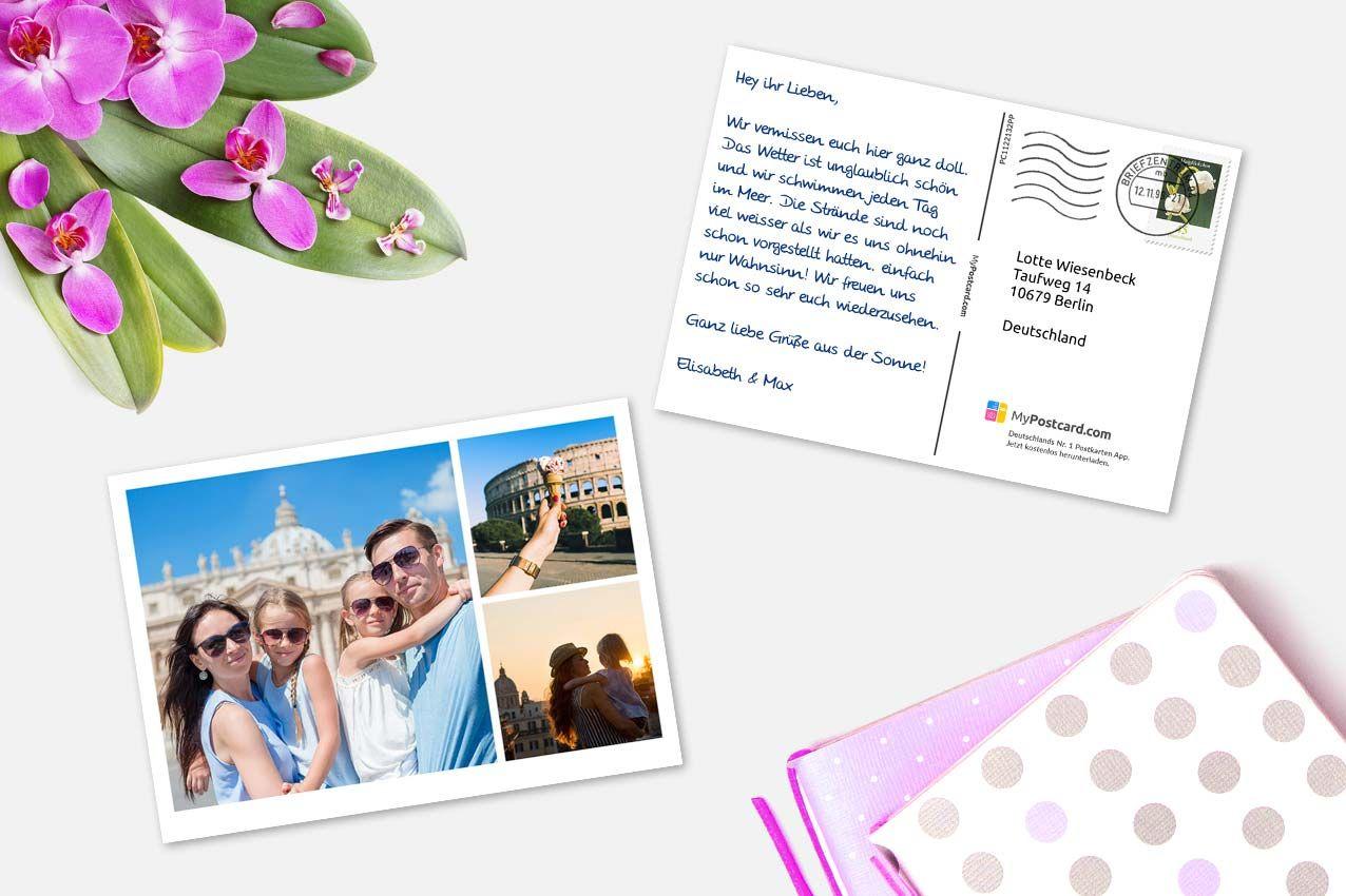 Postkarten Online Gestalten