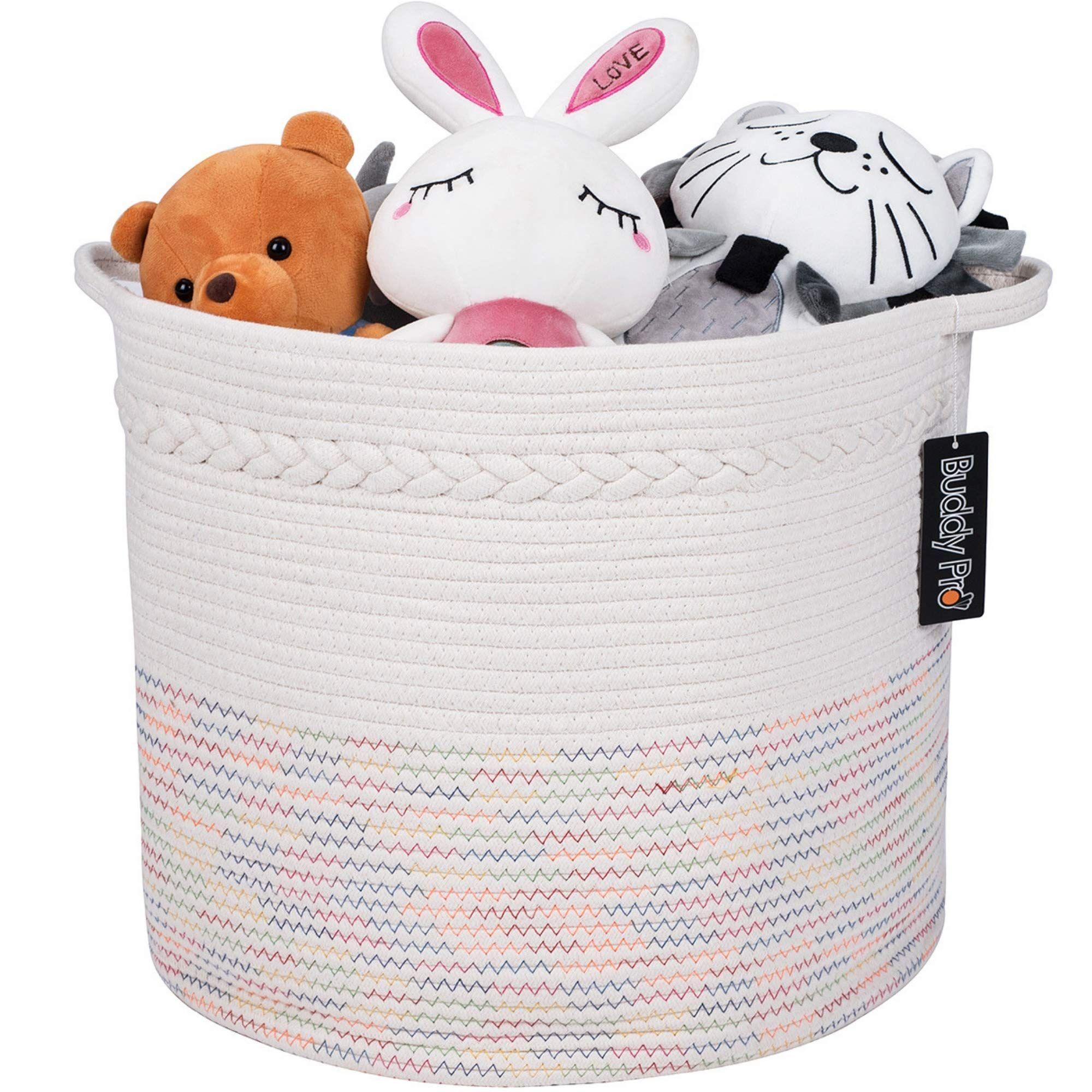 Buddy Pro Baby Toy Basket Wide 17 X 15 Extra Large Woven Storage Basket Blanket Basket Laundry Basket Nursery Hamp Toy Basket Baby Toys Blanket Basket