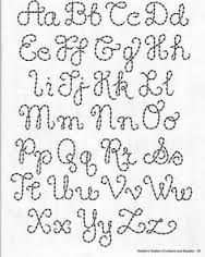 Resultado De Imagem Para Riscos De Letras Para Bordar Letras