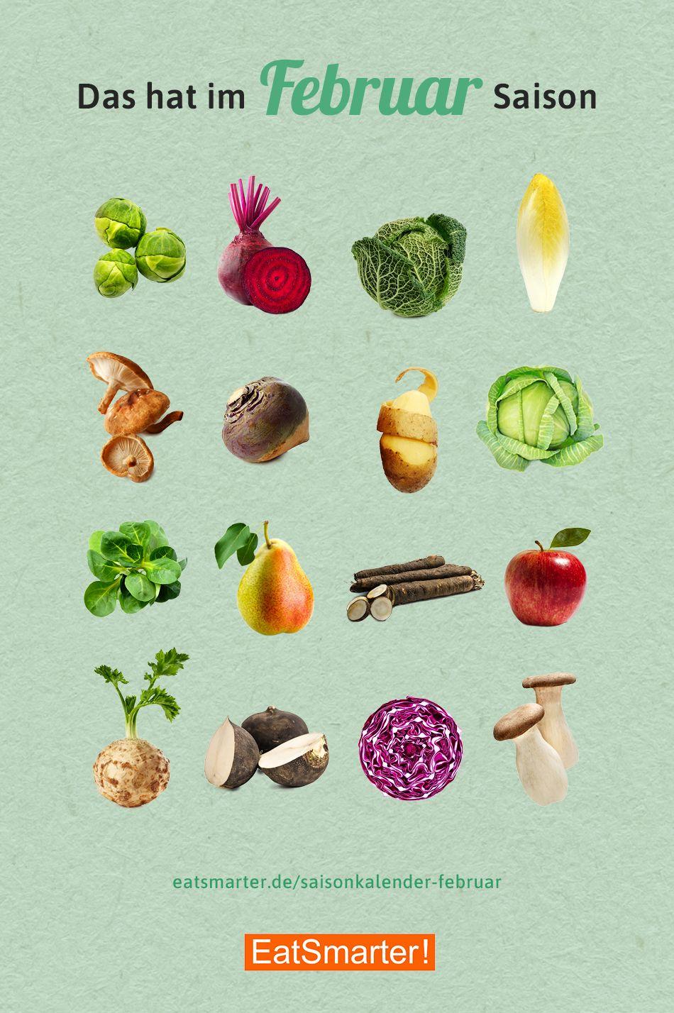 Saisonkalender Februar Obst & Gemüse   Saisonkalender obst und ...