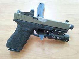 Glock 20c 10MM, KKM precision threaded barrel, L&M precision