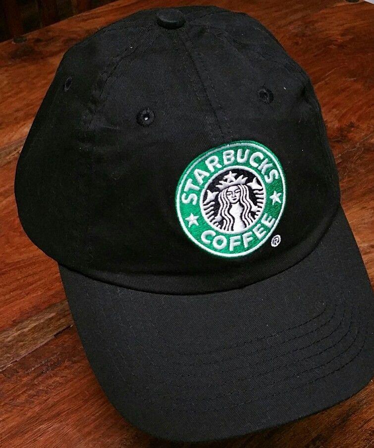 bb02c0b901960 Starbucks Coffee black Cap Hat velcro adjustable Mermaid employee baseball  NEW  Starbucks