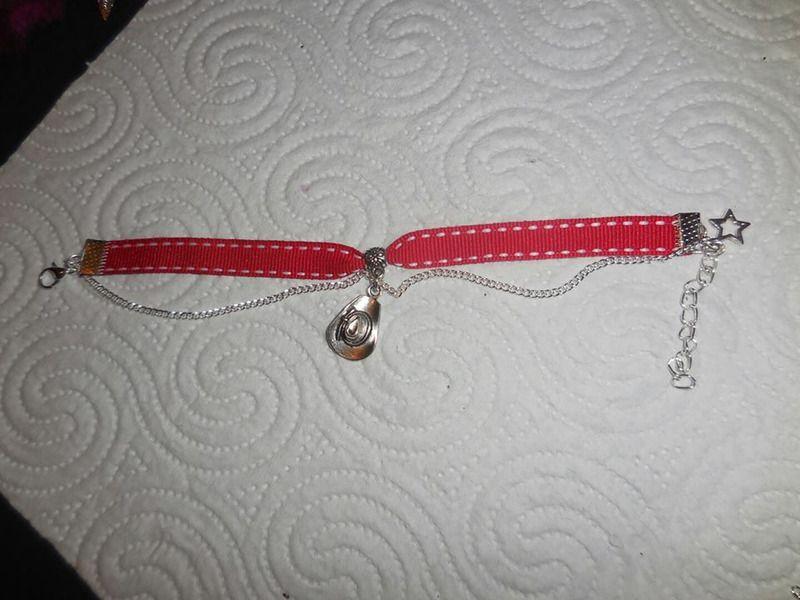 Bracelet country ruban - bracelet manchette - sman-créas-bijoux - Fait Maison