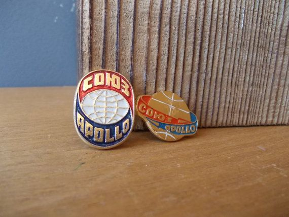 Space Explorers APOLLO and SOJUZ / Soviet Pin / by EUvintage