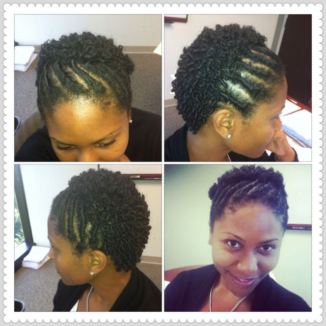 Hair Ideas For Twa About 3 5 4 Inches Long Flat Twist Finger Coils Using Leave In C Cute Hairstyles For Short Hair Natural Hair Styles Natural Hair Twists