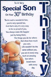 Sons 30TH Birthday Wish