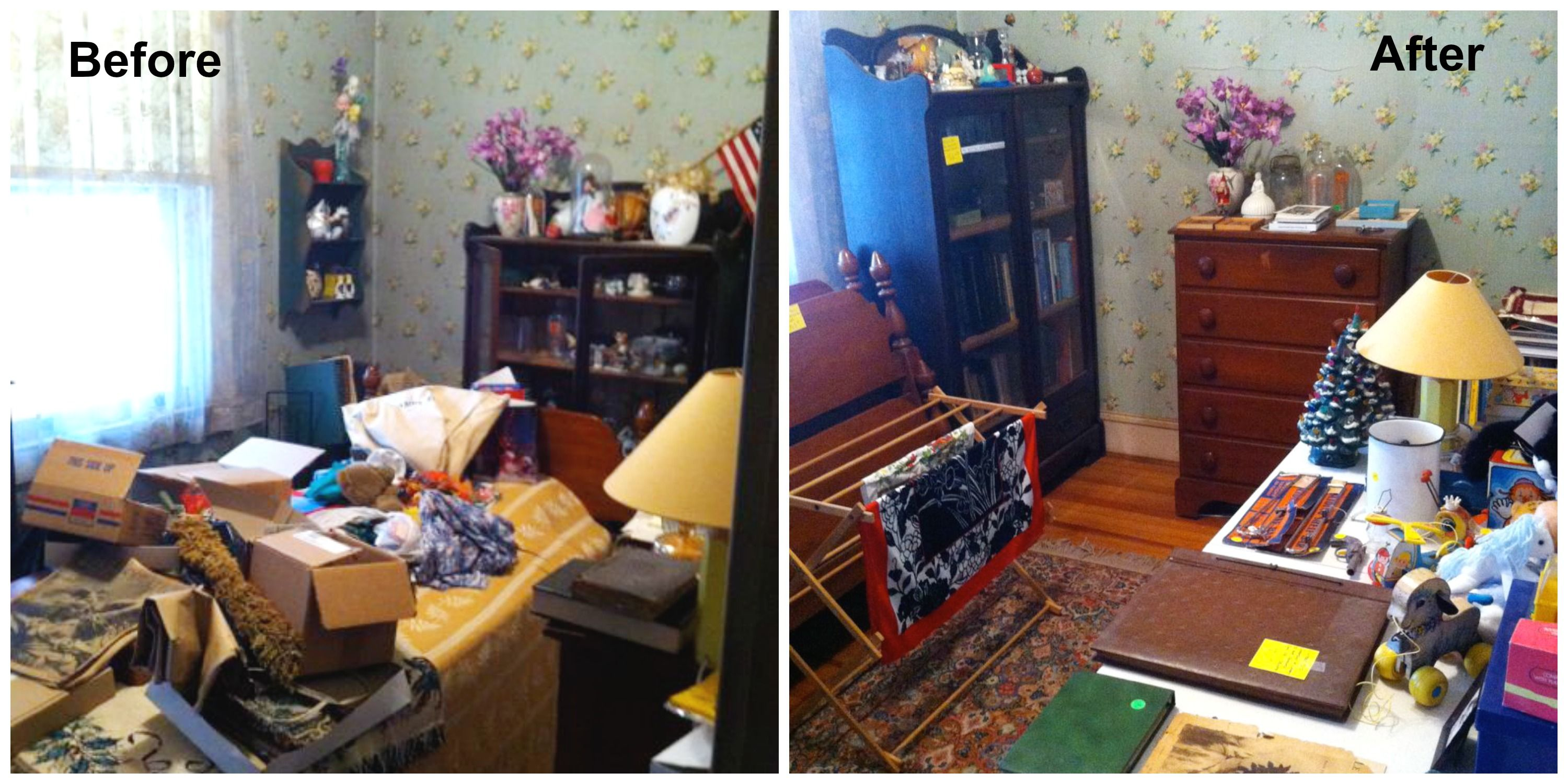 hoarder home  before and after