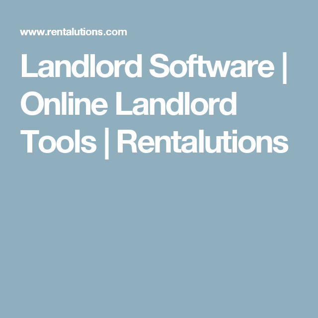 """Free for 1 unit. $25 month for 5 units - """"property management"""" Landlord Software   Online Landlord Tools   Rentalutions - $21 month if paid annually. Compare to cozyco."""
