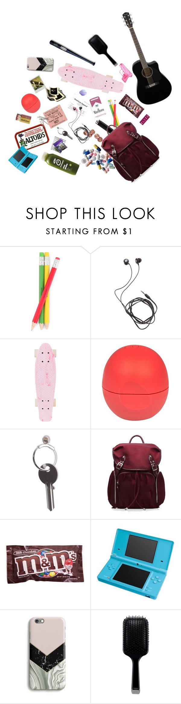 """""""What Is In My Bag"""" by elizz-denne on Polyvore featuring KEEP ME, Kikkerland, Diane Von Furstenberg, INC International Concepts, River Island, Maison Margiela, M Z Wallace, Candie's, Nintendo and GHD"""