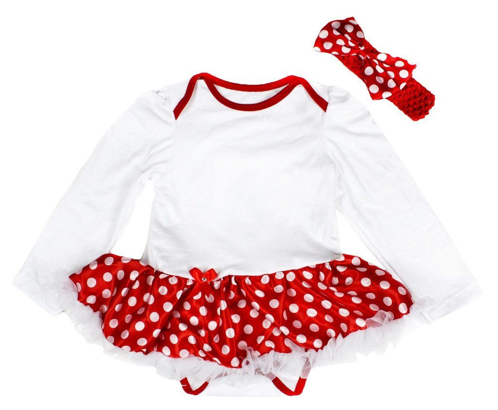 Petitebella Dress Plain Red Cotton Bloomer for Baby 3-12m