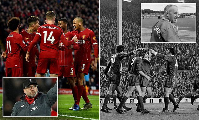 Liverpool's 20 home league wins in a row only bettered by