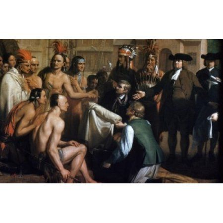Penns Treaty with the Indians by Benjamin West detail (1738-1820) Canvas Art - Benjamin West (24 x 36)