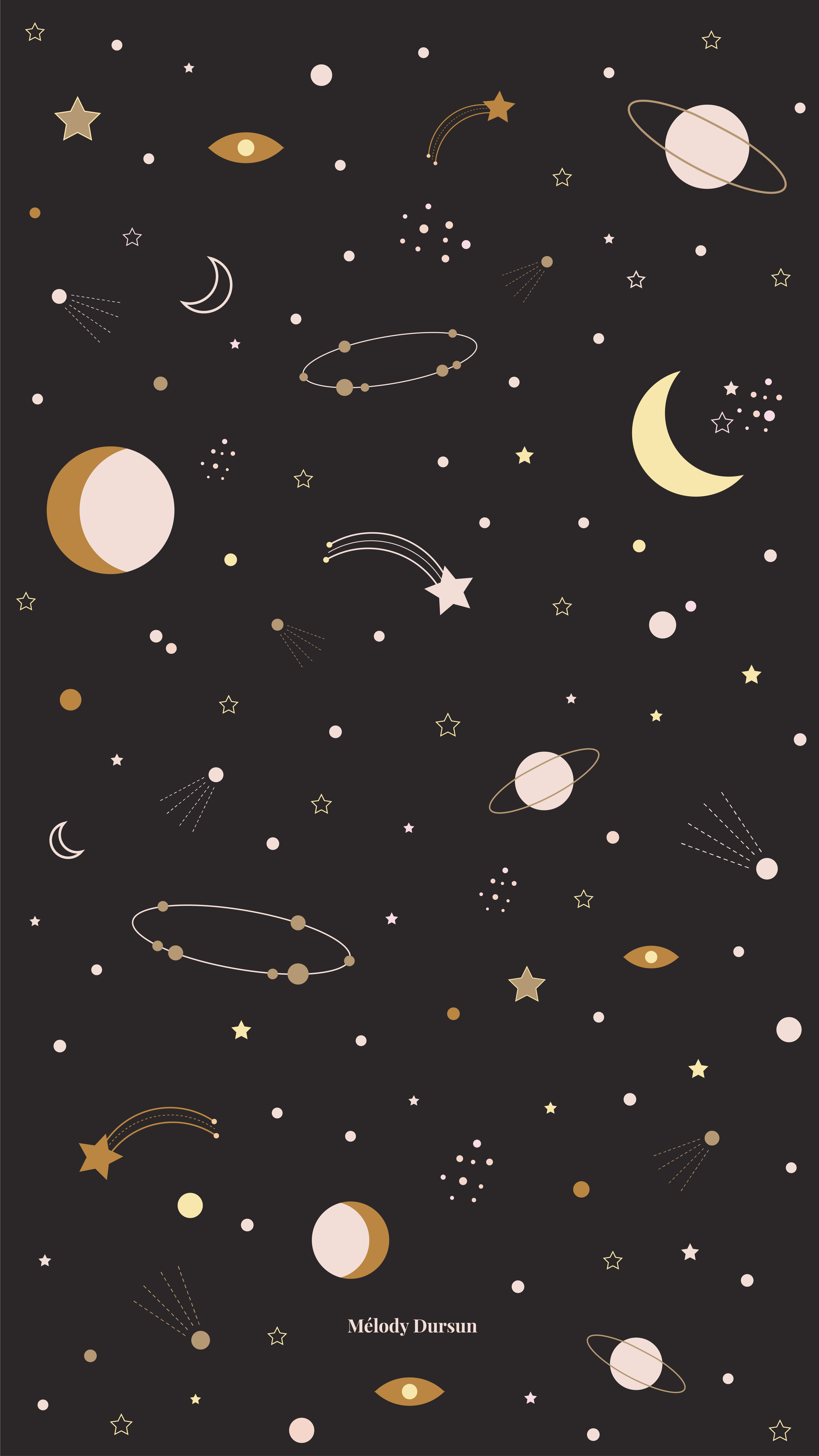 Mélody Dursun - Fond d'écran Janvier 2019 #melodydursun #graphicdesign #january #calendar #freebies #wallpaper #astral #constellation from melodydursun.com