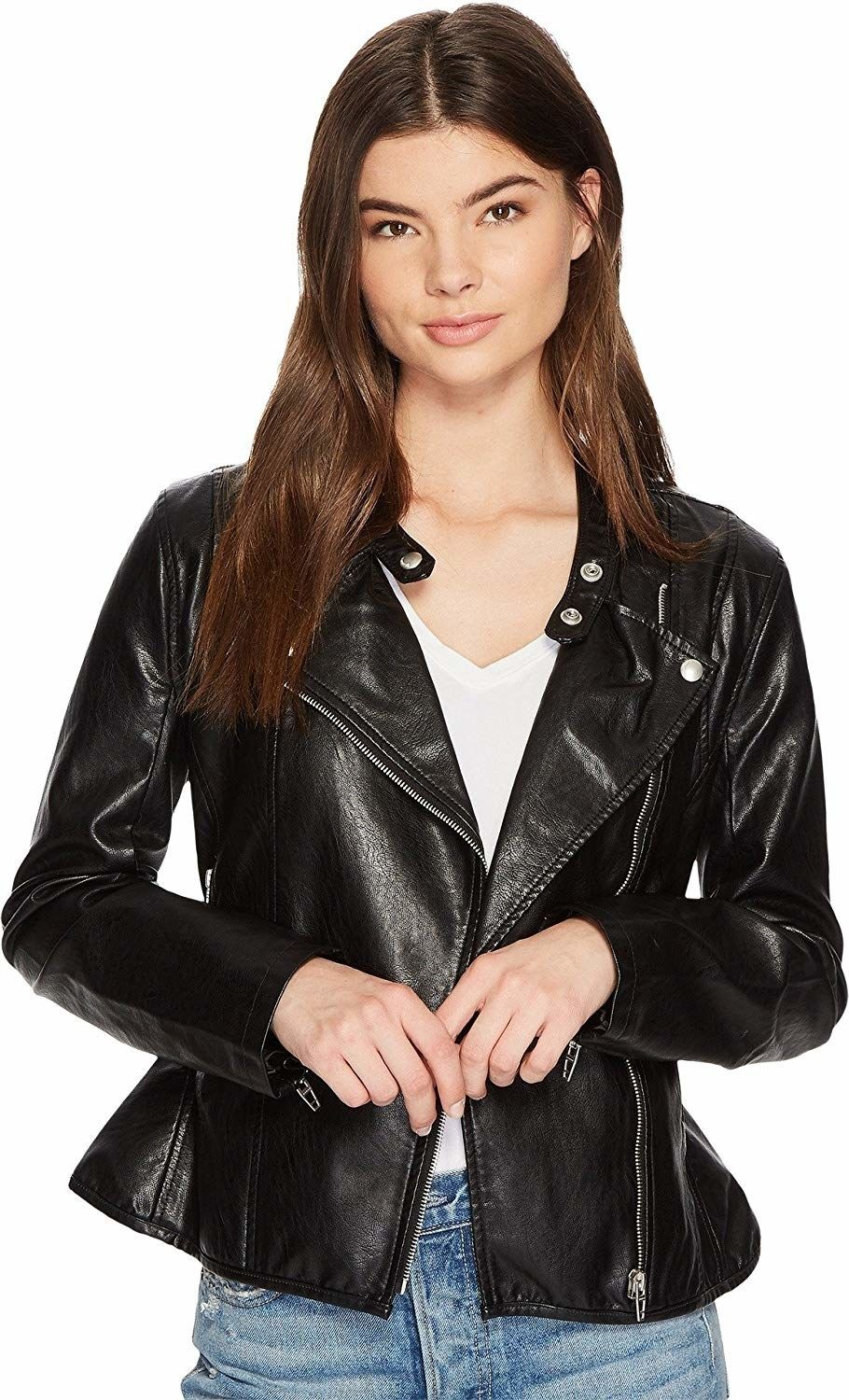 23 Wardrobe Basics From Amazon You Ll Actually Want To Add To Your Wardrobe Womens Black Leather Jacket Leather Jackets Women Vegan Leather Jacket