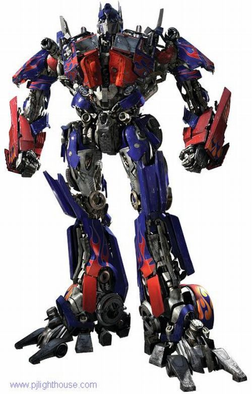 Optimus Prime Semi Truck Robot Art Project