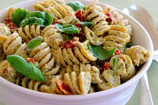 recipe: low calorie pesto pasta [9]