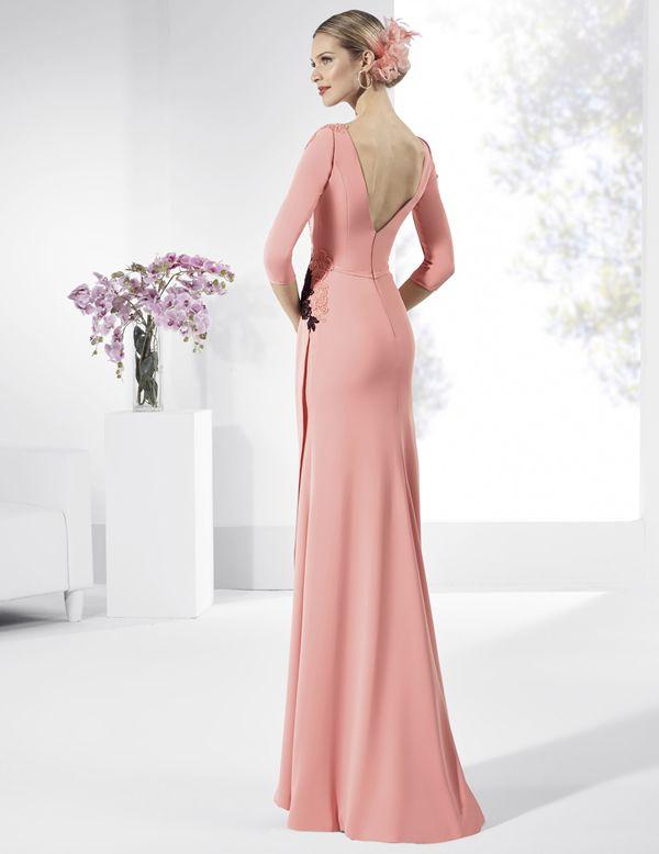 Vestidos de fiesta largos de crep color rosa cuarzo. | Photography ...