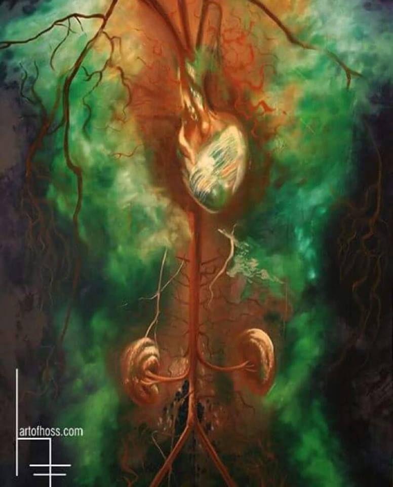 """""""Vascular"""" oil on wood by Hoss Cruz"""