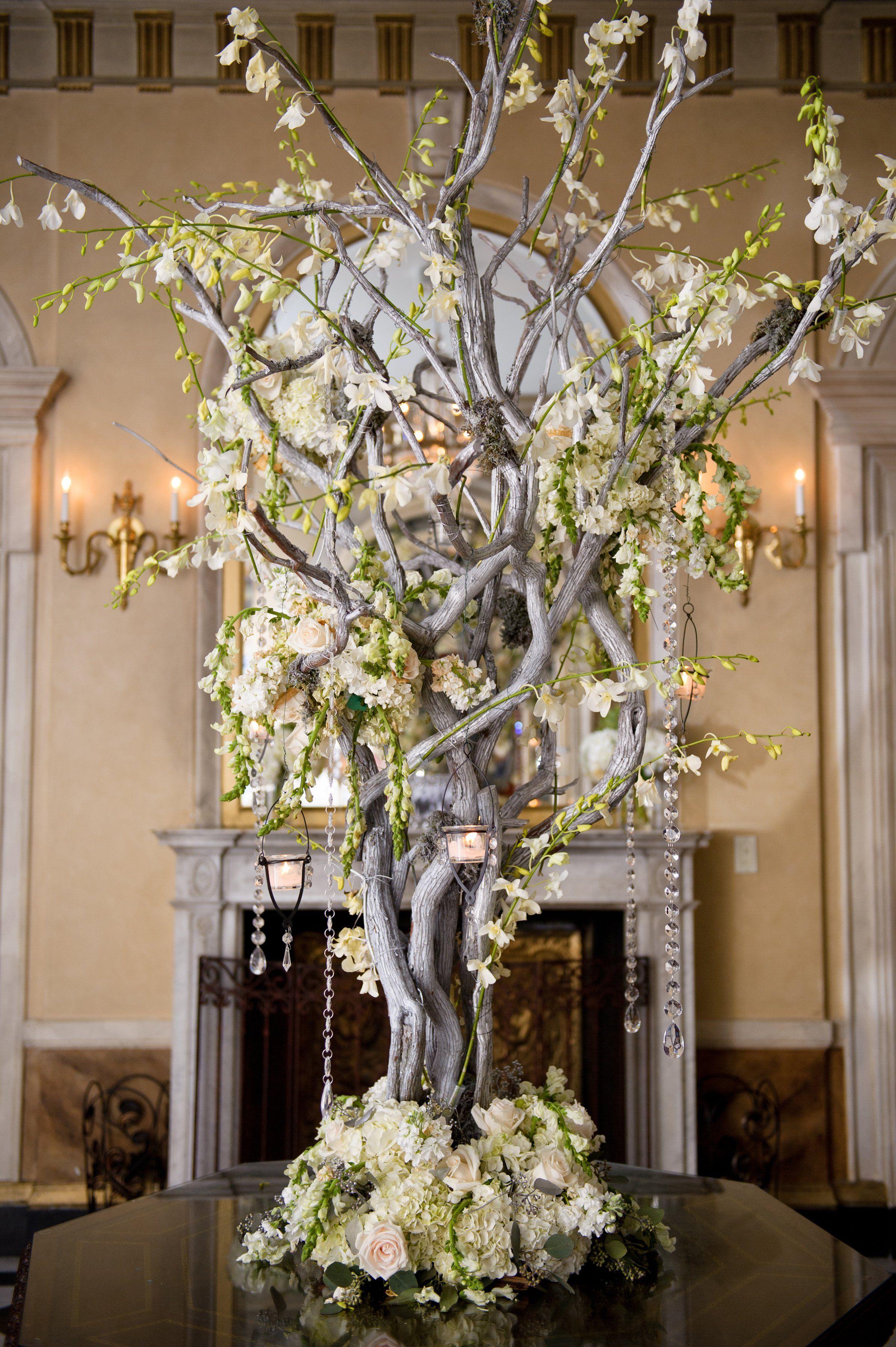 Elegant Manzanita Branch Centerpiece | Wedding Stuff | Pinterest ...