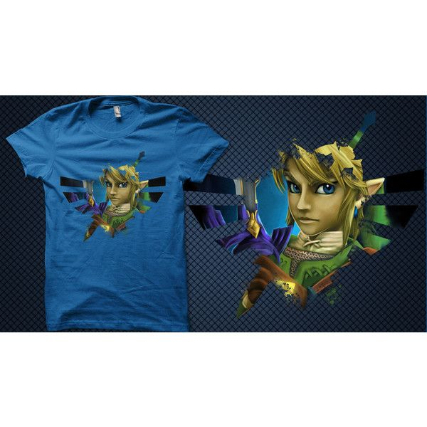 Womens Tee the Legend of Zelda Hylian Hero Twilight Princess T-Shirt ($25) ❤ liked on Polyvore
