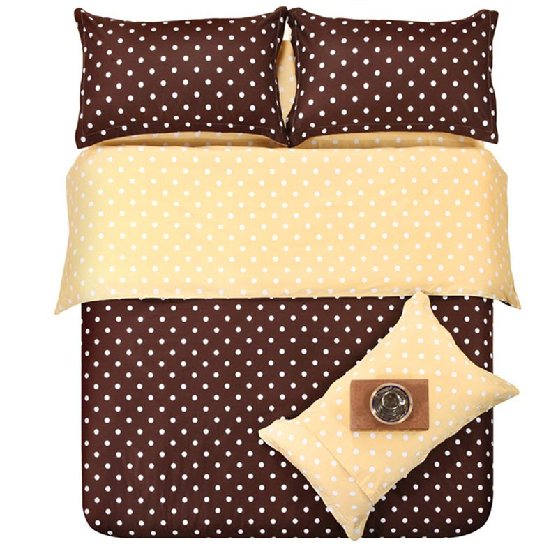 new4pcs bed set bedding set polka dot design bed linen fitted sheet twin
