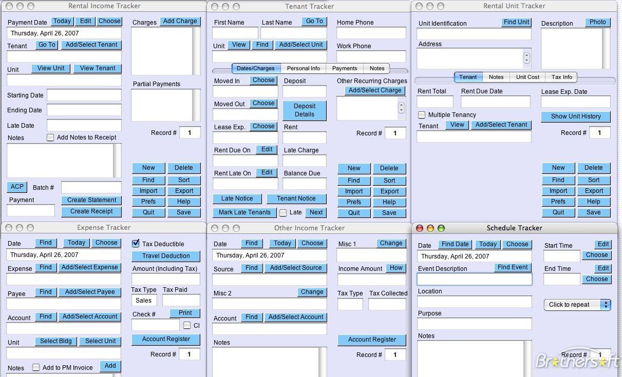 Rental Property Tracker Spreadsheet Rental Property Rental Spreadsheet