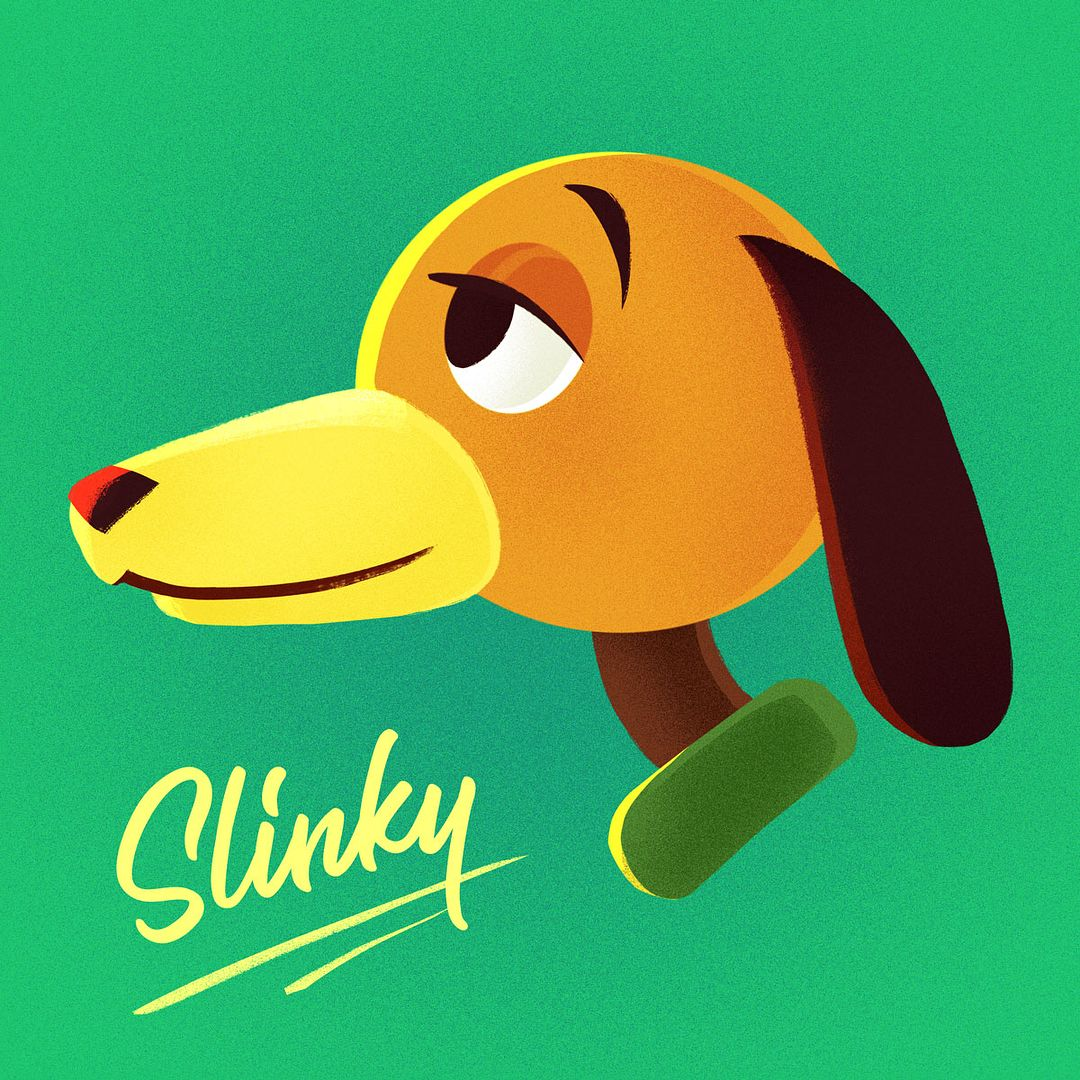 Slinky Drawing By Pixar Toystory Art Of Animation In 2019