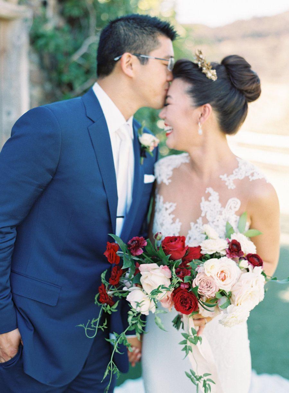 A dolce u gabbana ad inspired this real wedding donna morgan