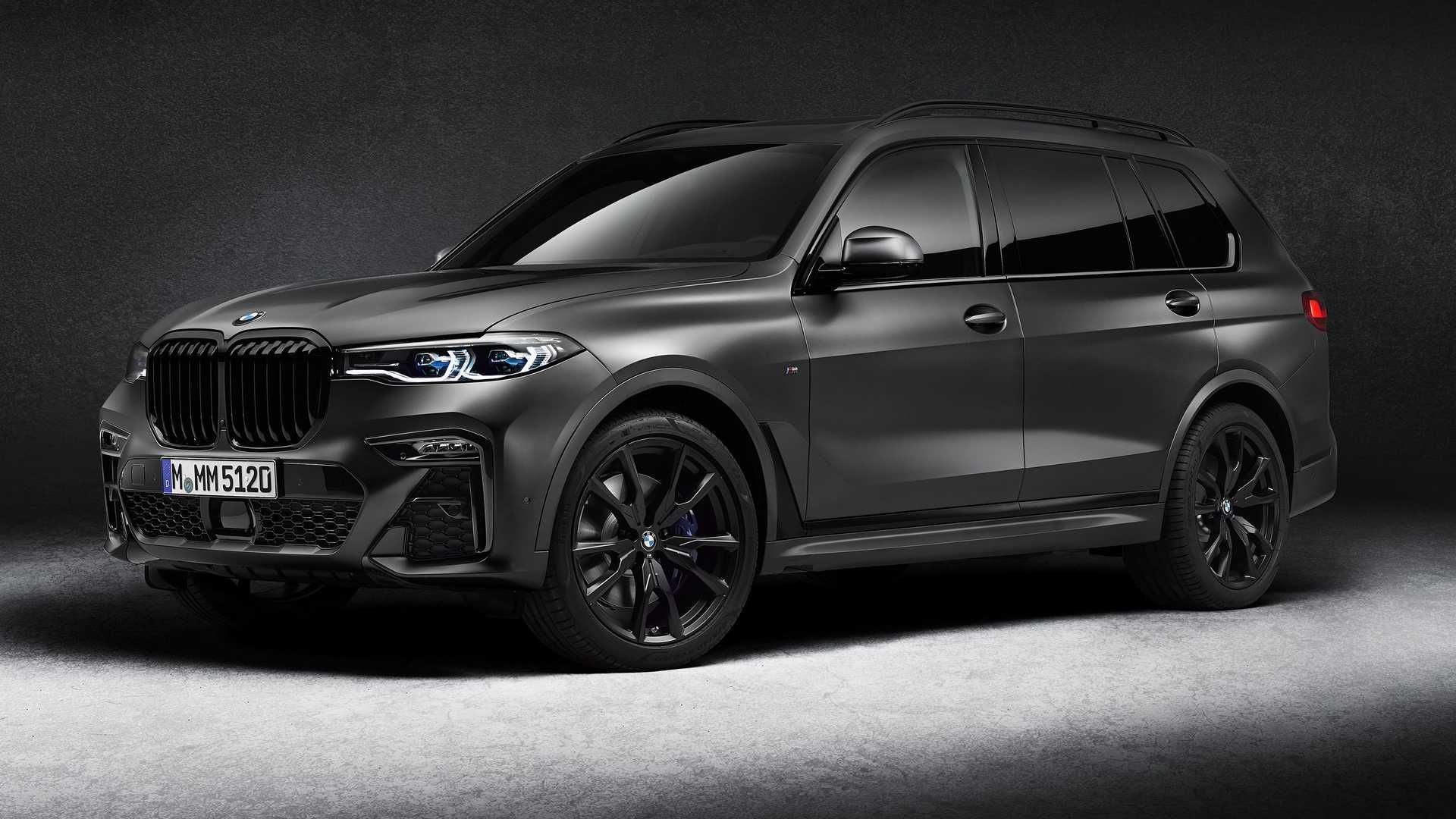 The 2021 Bmw X7 Dark Shadow Edition Wears A Unique Color With A Matte Finish Inside Leather Covers Nearly Every Surface Bmw X7 Luxury Suv Super Cars