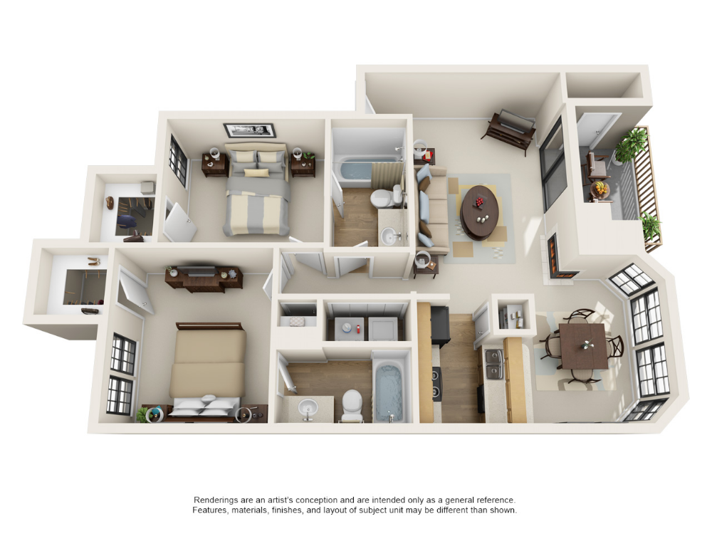 1 and 2 Bedroom Apartments in Carrollton, TX | Layouts # ...