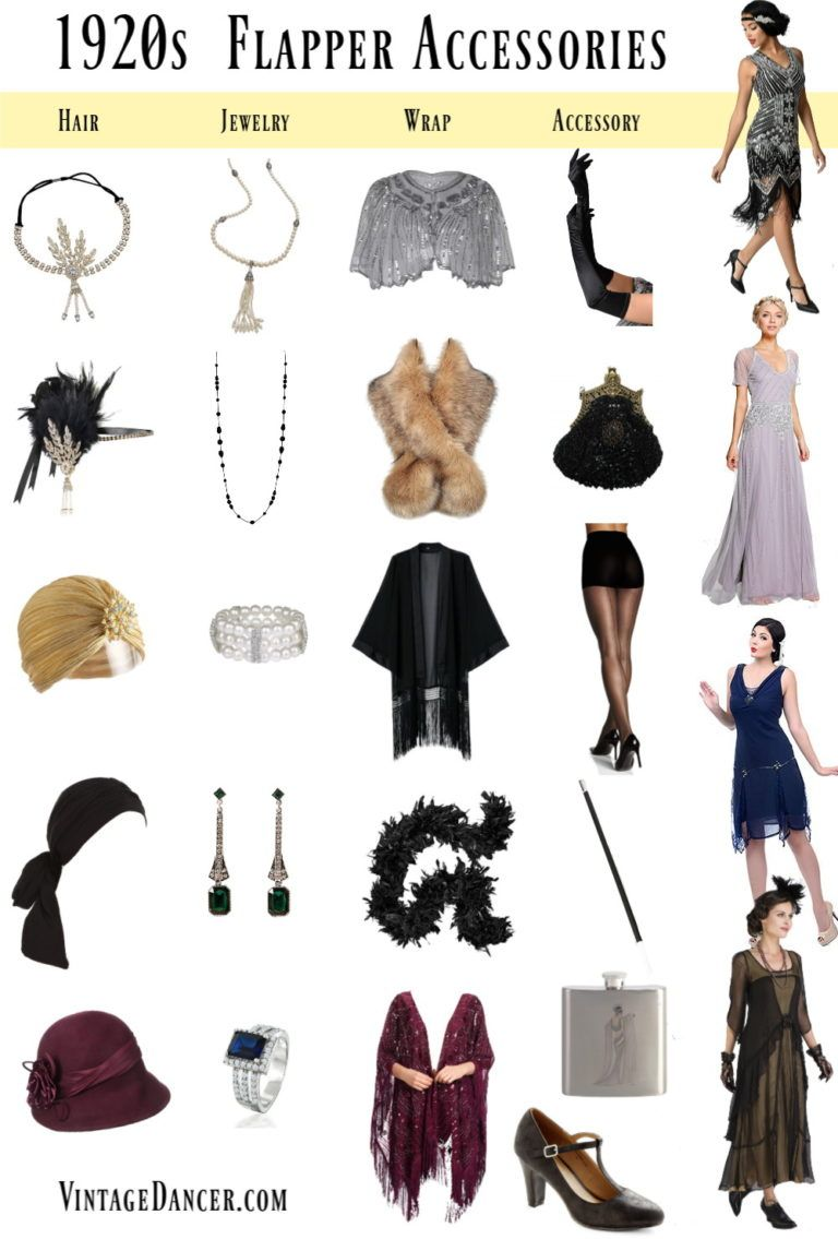 1920s Accessories Stockings Hats Headbands Jewelry In 2020 1920s Outfits 20s Outfits 1920 Outfits