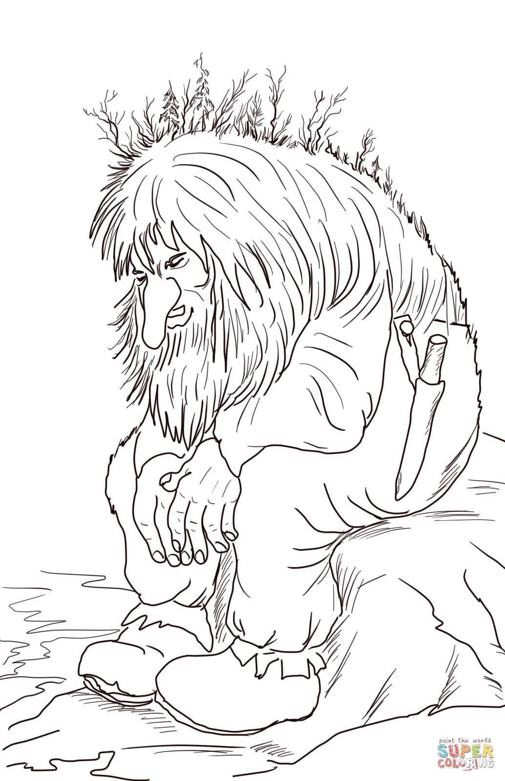 Norwegian Troll Coloring Page