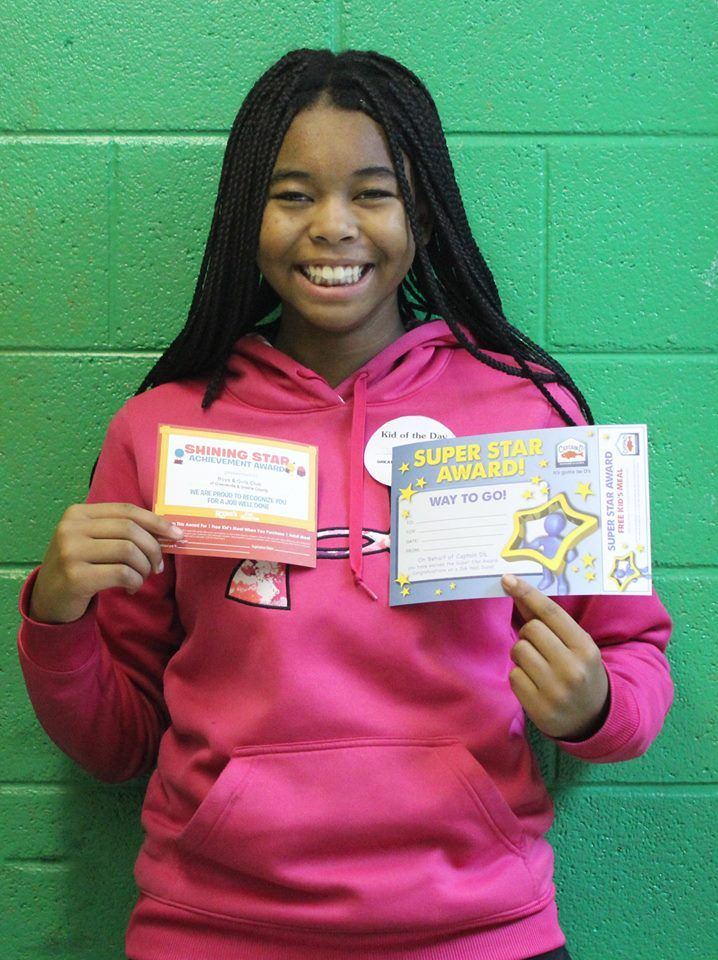 Jazmine is our Kid of the Day! She enjoys coming to the Club because of our gym. It gives her a place to play basketball with her peers!