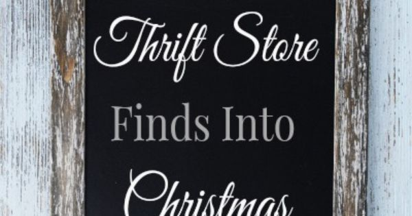 The thrift store is full of all kinds of gifts if you are creative! Here are some ways to turn thrift store finds into Christmas gifts! #thriftstorefinds