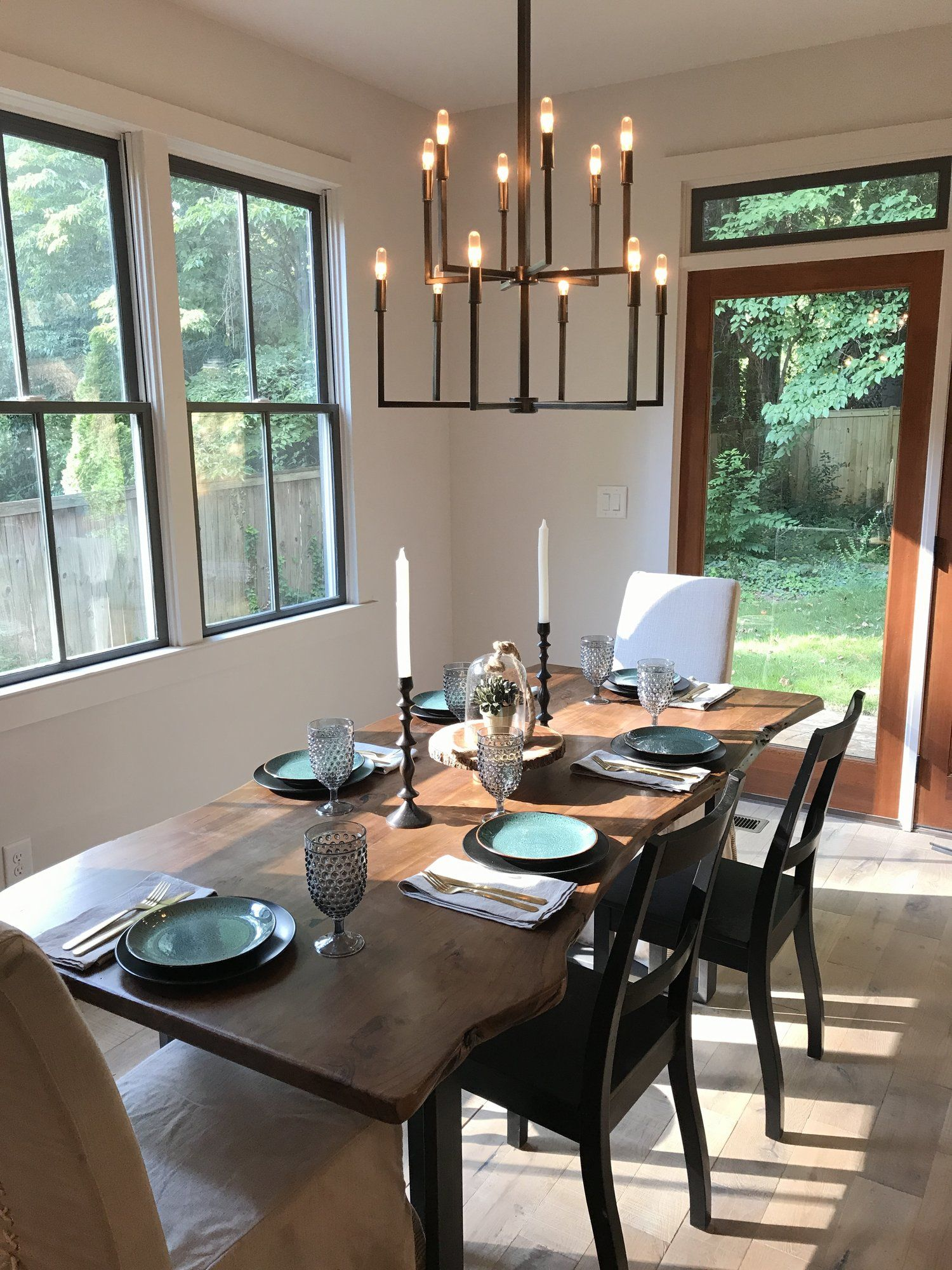 Modern Organic Dining Room By Drum Homes And Nest Interiors Live Edge  Dining Table