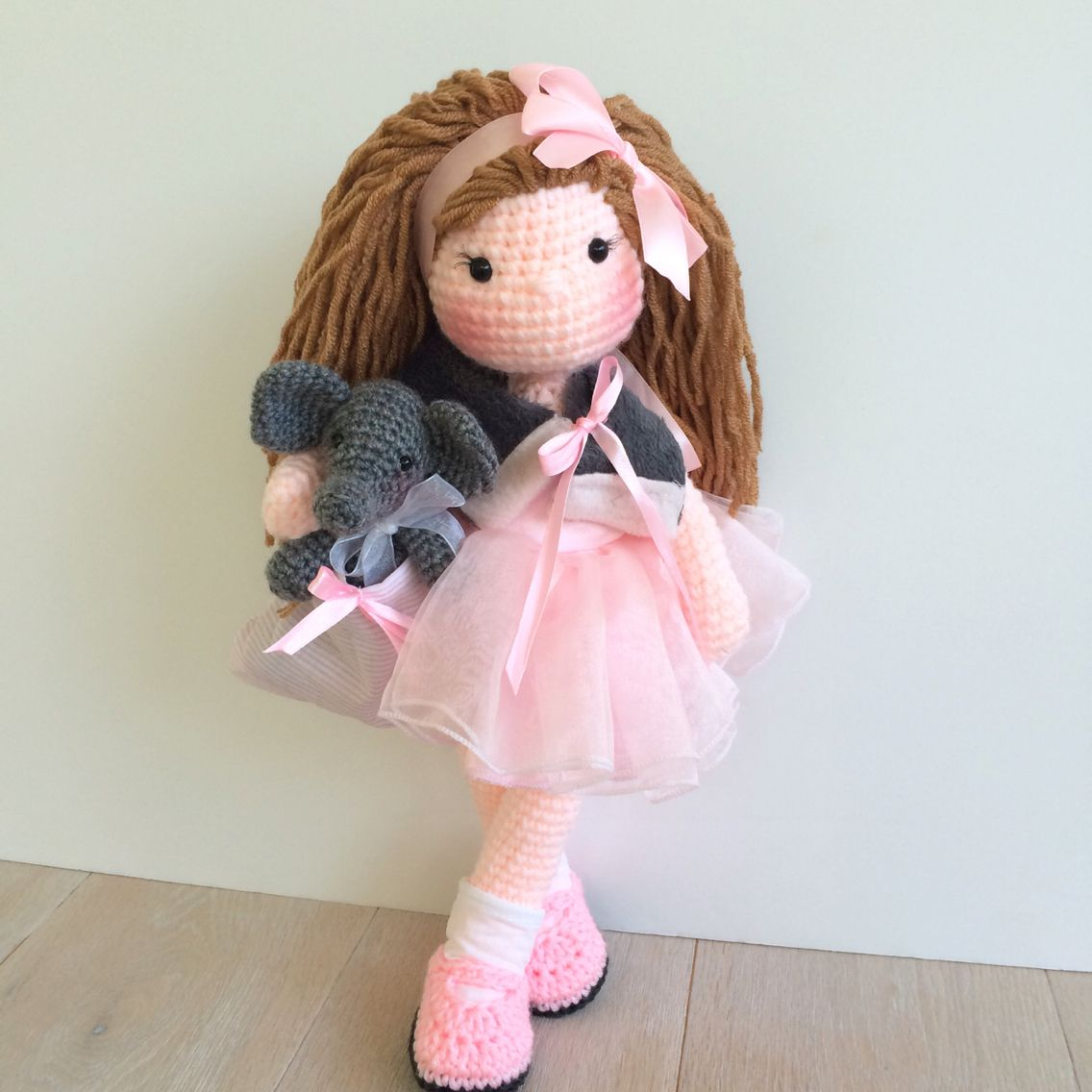 Amigurumi ballerina and crochet elephant ...