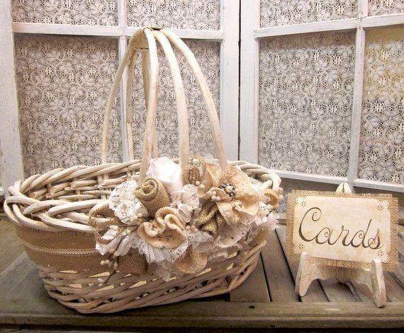 Large Wedding Card Holder Basket